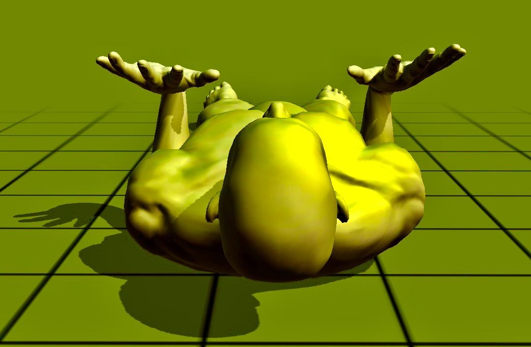 lying - on angled arms