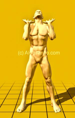 stehend - auf kurzen Armen
