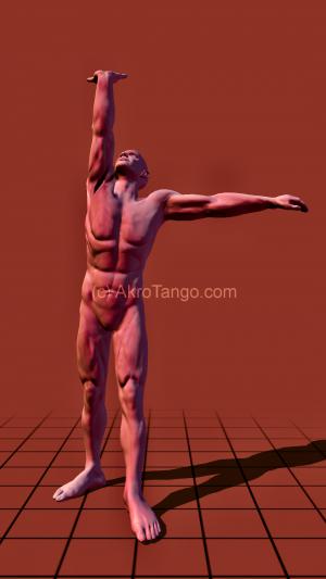 stehend - Einarmer langer Arm